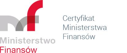 Certyfikat Ministerstwa Finansów